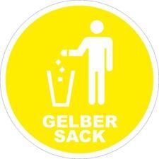 4x Gelber Sack Mülleimer Aufkleber Mülltonne Recycling Mülltrennung 200mm 10793