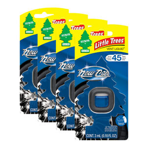 Little Trees Vent Liquid Car Air Freshener, 4-PACK (New Car Scent)