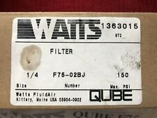 NEW IN BOX WATTS F75-02BJ FILTER 1/4""