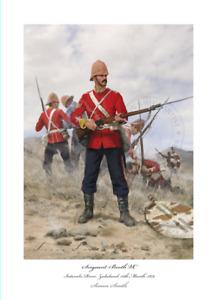 SGT BOOTH VC Rorkes Drift Isandlwana- Zulu War Art print Ltd ed Artist signed!
