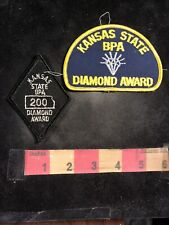 Vintage 2 Patches Kansas State Boa 200 & Diamond Award Bowling Patch 94Ll