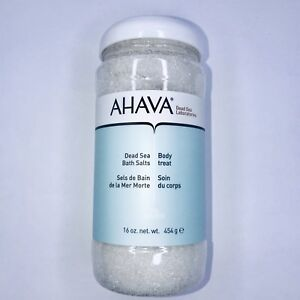 AHAVA Dead Sea Salt Mineral Bath Salt Body Treat 16 oz New