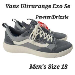 Vans Men's UltraRange Exo Se Suede Mesh Shoes Pewter Grey Drizzle Size 13 NEW