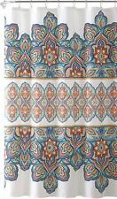 Colorful Boho Bohemian Shabby Chic Floral Farmhouse Fabric Shower Curtain