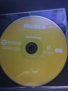 Switched on Schoolhouse 11th grade Language, pick the year, FREE SHIP AOP SOS