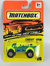 Matchbox 1994 Neon Green Chevy Van collector number MB 26 Sealed On Card