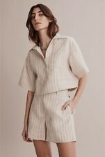 Country Road Organically Grown French Linen Stripe Popover Shirt