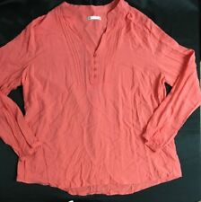 LADIES TARGET SIZE 20 (18) TOP LS RELAXED FIT SALMON AS NEW