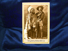 Sitting Bull with Buffalo Bill Cody Cabinet Card Photograph Vintage CDV