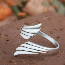 Wedding Fashion Adjustable Opening Mouth Finger Ring Ring Double Angel Wings