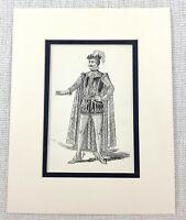 1889 Antico Stampa William Shakespeare Dodicesimo Notte Primo Ufficiale Vestito