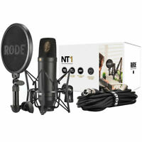Rode NT1-KIT Kondensatormikrofon Set Studiomikrofon mit SM6 Spinne mit Popschutz