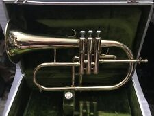 GREAT SOUNDING VITO Bb FLUGELHORN MADE BY JUPITER YELLOW LACQUER & CASE & MPC