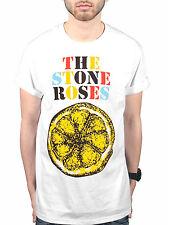 Official The Stone Roses Logo Lemon Multicolour T-Shirt Love Spreads One Love