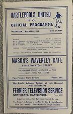 More details for hartlepools united v darlington - durham senior cup semi final - 1958/59
