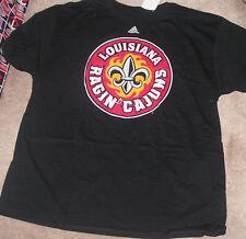 NEW NCAA Louisiana Lafayette Rajin Cajuns  T Shirt Men  2XL XXL Adidas NEW NWT