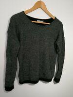 Calvin Klein Jeans Size M Black/Grey Wool/Alpaca Knitted Jumper Long Sleeve