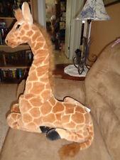 """Giraffe large 26"""" realistic jumbo stuffed plush laying safari animal foam head"""