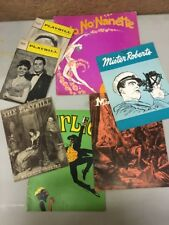Vintage 1960 Playbill Theater Musical Program Lot Of 7