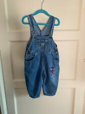 Vintage 1990s Denim Cotton Dungarees 12 Months Bear Boys Girls