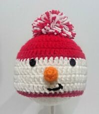 Cute Toddler Kids Girl&Boy Crochet Knit beanie cap snowman Christmas