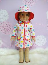 American Girl Our Generation Journey Girl 18 inch Doll Clothes Outfit Raincoat