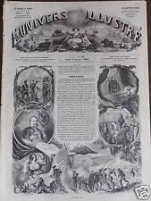 L'UNIVERS ILLUSTREE 1862 N 190 L'ANNEE 1861 EST MORTE!