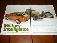 JEEP - LAND ROVER - HUMMER - CONCEPT CAR / TRUCK ***ORIGINAL 2004 ARTICLE***