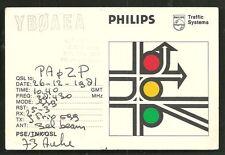 Jakarta QSL card YBØAEA Philips  Java Indonesia 1981