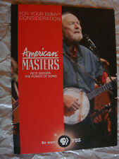 PETE SEEGER THE POWER OF SONG EMMY DVD PBS American Masters Folk Music BOB DYLAN