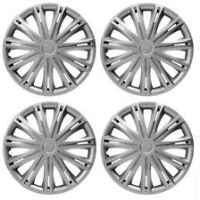 ALFA ROMEO WHEEL TRIM HUB CAP CAPS PLASTIC COVERS FULL SET SILVER SPARK 14 INCH
