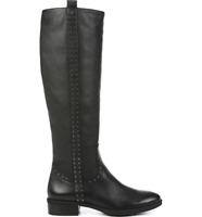 Sam Edelman Womens Prina Black Leather Knee High Riding Boots Studded 6.5 M NWOB