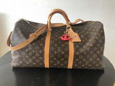 Valija louis vuitton keepall 55 con correas para los hombros, Monogram Canvas