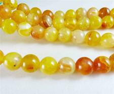 """New! 6mm Yellow Dragon Veins Agate Round Gemstones Loose Beads 15"""" AAA"""