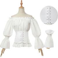Women Ladies Gothic Renaissance Medieval Victorian Lolita Blouse Party Shirt Top
