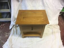 Oak Side Table With Draw
