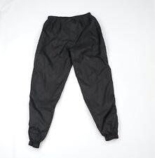 Vintage 90s Spalding Mens Large Blank Waterproof Lined Nylon Joggers Pants Black