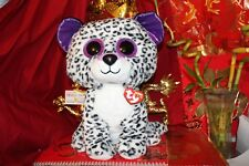 """Ty Beanie Boos Violet~Jumbo Leopard.16"""".Claire&# 039;S Exclusive.2017.Mwnmt.Nice Gift"""