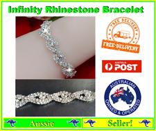 Bangle Bracelet Diamante Jewellery Women's Crystal 250 Rhinestones Infinity