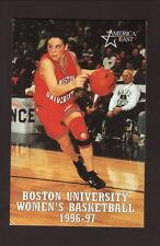 Boston University Terriers--1996-97 Basketball Pocket Schedule--Sullivan Tire