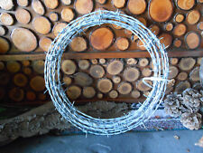 25'. 15.5 gauge.4 point Barb Wire for western/rustic crafts.
