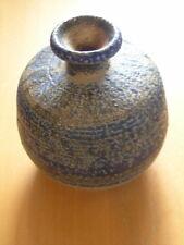 """James Eugene Pearson ( 1939-2017) Studio Art Pottery Bottle Vase 4 1/2"""" Signed"""