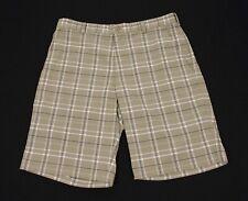 Nike Golf Dri-Fit Brown Plaid Striped Casual Tech Golf Shorts Mens 34