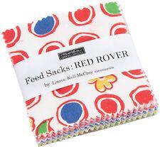 "Feed Sacks Red Rover Moda Mini Charm Pack 42 100% Cotton 2.5"" Precut Squares"
