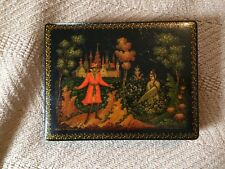 russian antique Palekh Box