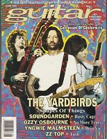 GUITAR MAGAZINE THE YARDBIRDS ERIC CLAPTON JIMMY PAGE JEFF BECK ZZ TOP JUNE 1992