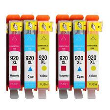 6 (CMY) Ink Cartridge Unbrand Fits hp 920XL Officejet 7000A 7500A E609a 6500A