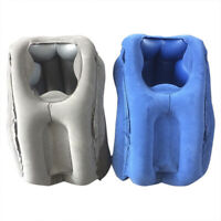Inflatable Travel Sleeping Bag Cushion Neck Pillow for Outdoor Airpl PM
