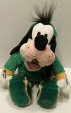 "Disney Store Exclusive Goofy Elf Plush 13"" Green Jammies Christmas Bean Bag"