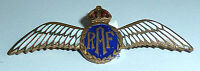 A VINTAGE 1940s RAF SWEETHEART BROOCH WITH RED, WHITE & BLUE ENAMEL